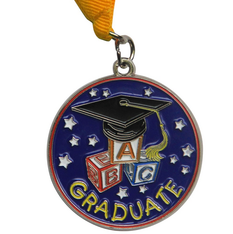 Childs Graduation Medal - Preschool & Kindergarten - Graduation Cap and Gown