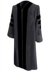 Classic Doctoral Graduation Gown - Academic Regalia - Graduation Cap and Gown