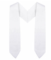 White Preschool / Kindergarten Graduation Stole - Graduation Cap and Gown