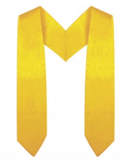 Gold Preschool / Kindergarten Graduation Stole - Graduation Cap and Gown