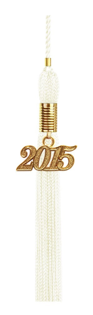 White Graduation Tassel - College & High School Tassels - Graduation Cap and Gown