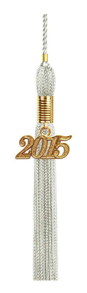 Silver Graduation Tassel - College & High School Tassels - Graduation Cap and Gown