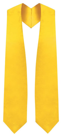 Gold Graduation Stole - Gold College & High School Stoles - Graduation Cap and Gown