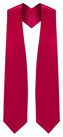 Red Graduation Stole - Red College & High School Stoles - Graduation Cap and Gown