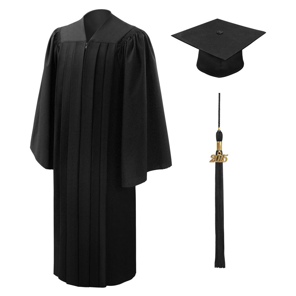 Deluxe Bachelor's Graduation Cap, Gown & Tassel Package - Graduation Cap and Gown