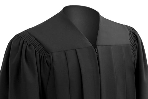 Deluxe Black Bachelors Graduation  Cap & Gown - Collegiate Regalia - Graduation Cap and Gown