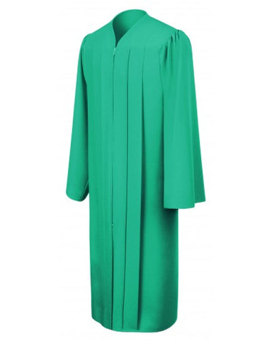Matte Emerald Green Bachelors Graduation Gown - College & University - Graduation Cap and Gown