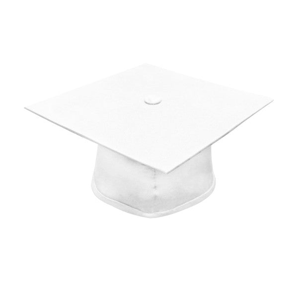 Matte White High School Graduation Cap and Gown - Graduation Cap and Gown