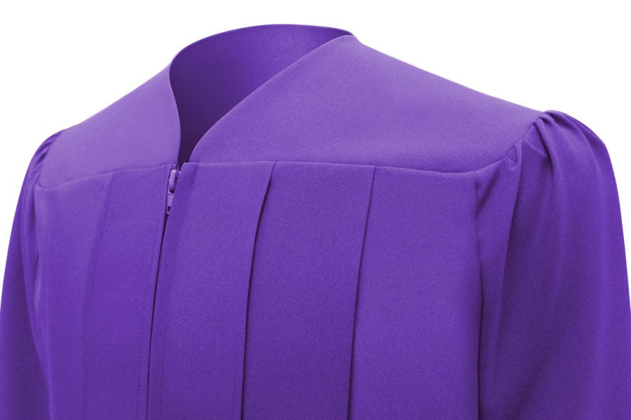 Matte Purple Bachelors Cap & Gown - College & University - Graduation Cap and Gown