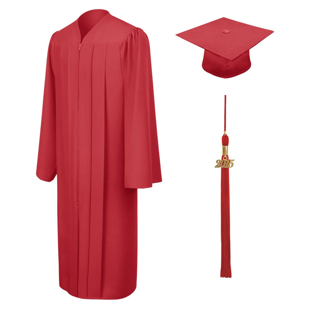 Matte Red Bachelors Cap & Gown - College & University - Graduation Cap and Gown