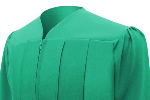 Matte Emerald Green Bachelors Cap & Gown - College & University - Graduation Cap and Gown