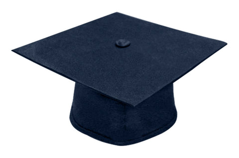 Matte Navy Blue Bachelors Graduation Cap - College & University - Graduation Cap and Gown