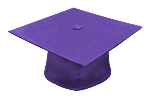 Matte Purple Bachelors Graduation Cap - College & University - Graduation Cap and Gown