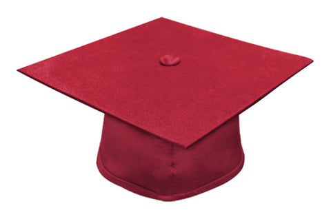 Matte Red Bachelors Graduation Cap - College & University - Graduation Cap and Gown