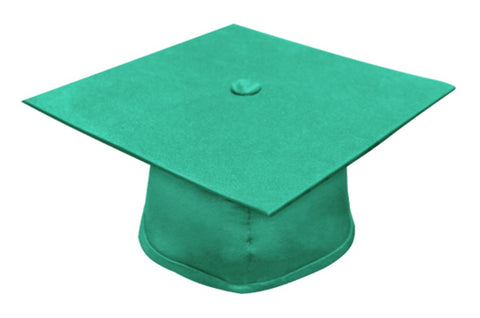 Matte Emerald Green Bachelors Graduation Cap - College & University - Graduation Cap and Gown