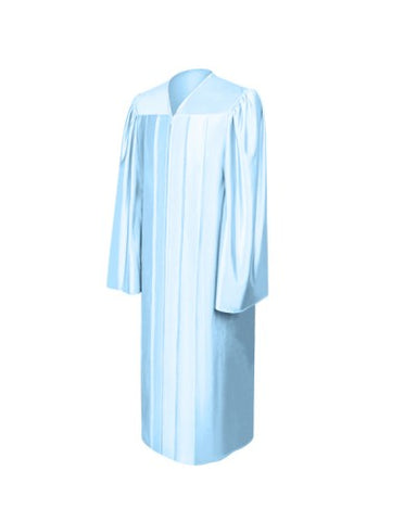 Shiny Light Blue Bachelors Graduation Gown - College & University - Graduation Cap and Gown