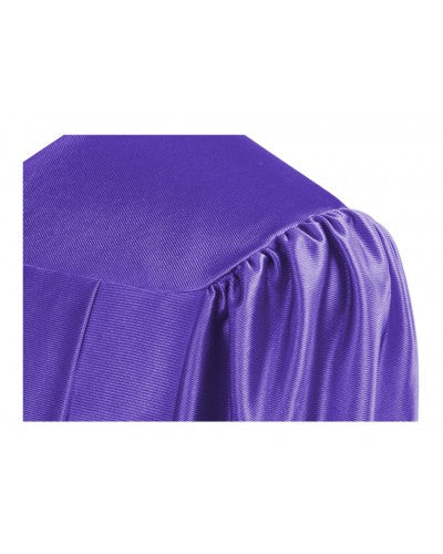 Shiny Purple Bachelors Graduation Gown - College & University - Graduation Cap and Gown