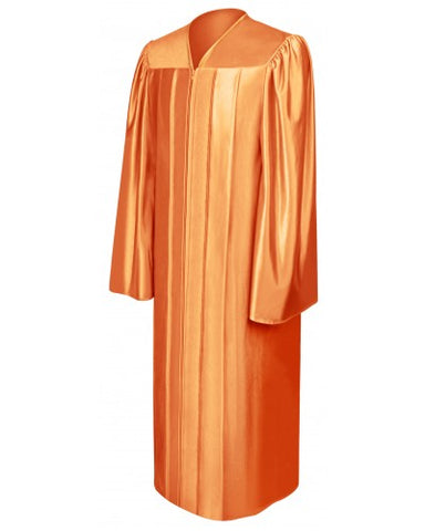 Shiny Orange Bachelors Graduation Gown - College & University - Graduation Cap and Gown