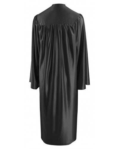 Shiny Black Bachelors Graduation Gown - College & University - Graduation Cap and Gown