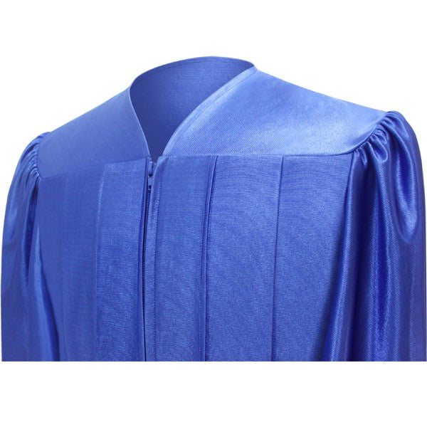 Shiny Royal Blue Bachelors Cap & Gown - College & University - Graduation Cap and Gown