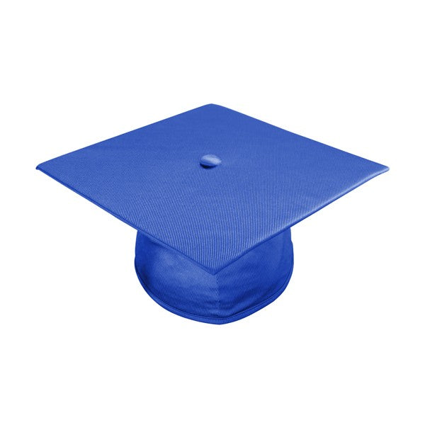 Shiny Royal Blue High School Cap and Gown - Graduation Cap and Gown