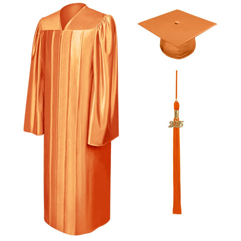 Shiny Orange Bachelors Cap & Gown - College & University - Graduation Cap and Gown