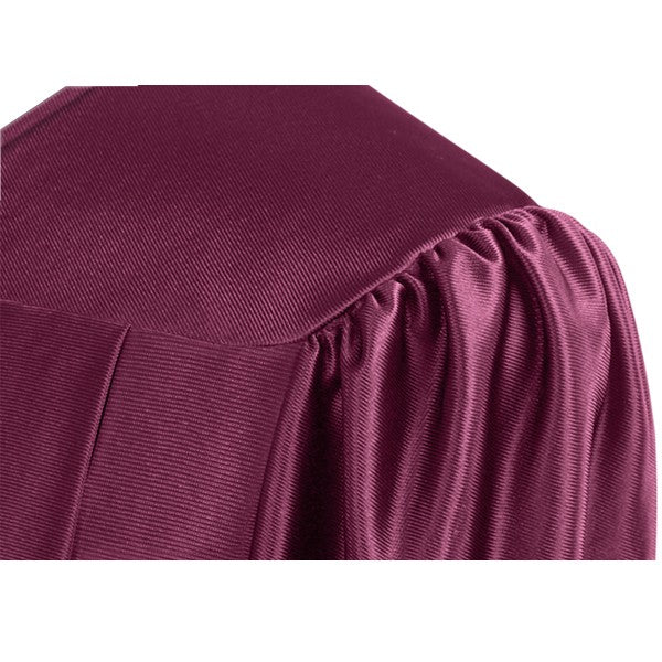 Shiny Maroon High School Graduation Cap and Gown - Graduation Cap and Gown