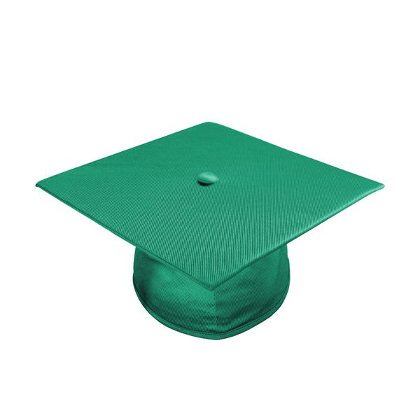 Shiny Emerald Green Bachelors Cap & Gown - College & University - Graduation Cap and Gown