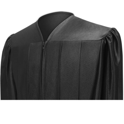 Shiny Black Bachelors Cap & Gown - College & University - Graduation Cap and Gown