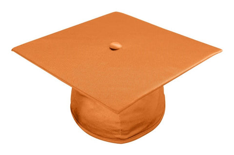 Shiny Orange Bachelors Graduation Cap - College & University - Graduation Cap and Gown