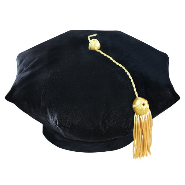 8 Sided Doctoral Tam - Graduation Cap and Gown
