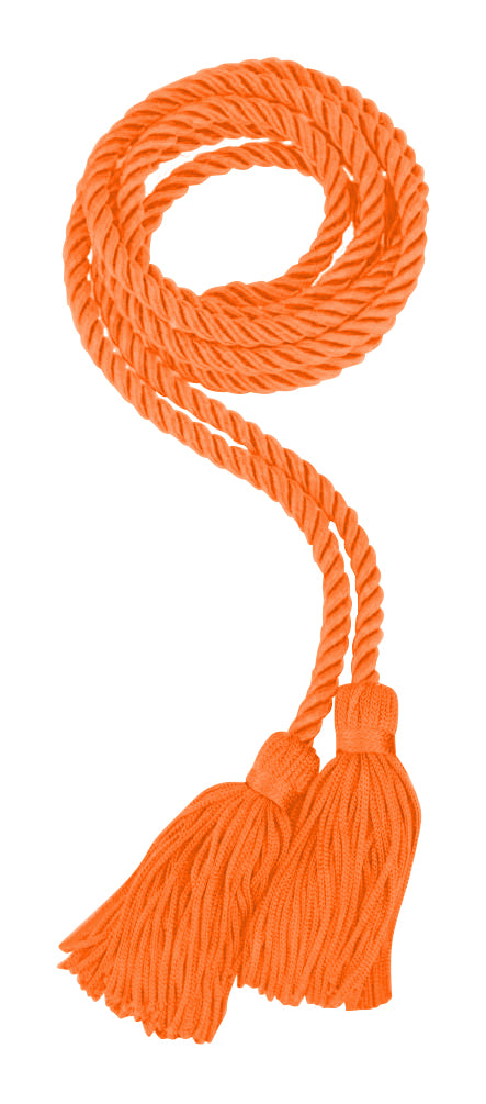 Apricot/Orange Honor Cord - College & High School Graduation Honor Cords - Graduation Cap and Gown