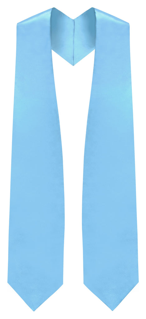 Light Blue Graduation Stole - Sky Blue College & High School Stoles - Graduation Cap and Gown