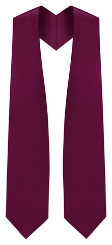 Maroon Graduation Stole - Maroon College & High School Stoles - Graduation Cap and Gown