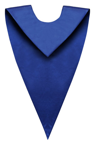 Royal Blue Graduation V Stole - Graduation Cap and Gown