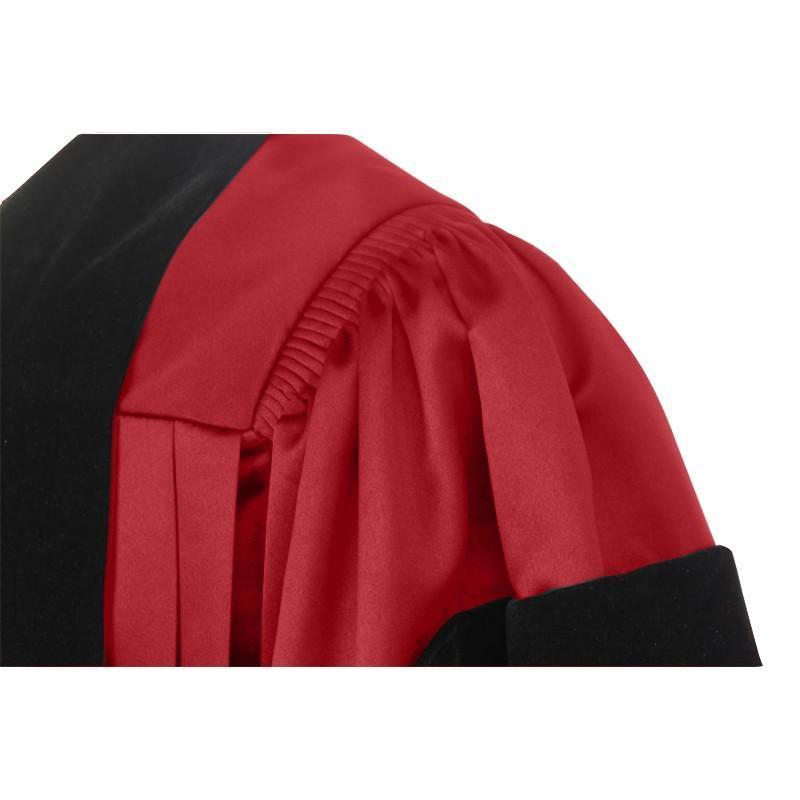 Deluxe Red Doctoral Gown - Graduation Cap and Gown