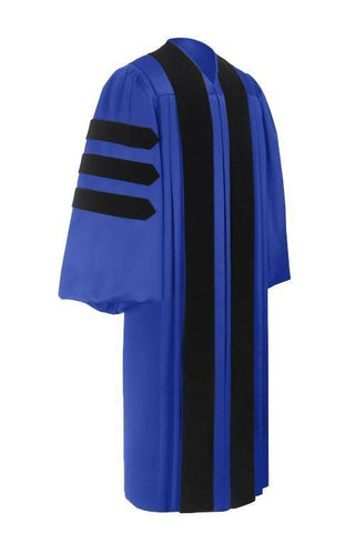 Deluxe Royal Blue Doctoral Gown - Graduation Cap and Gown