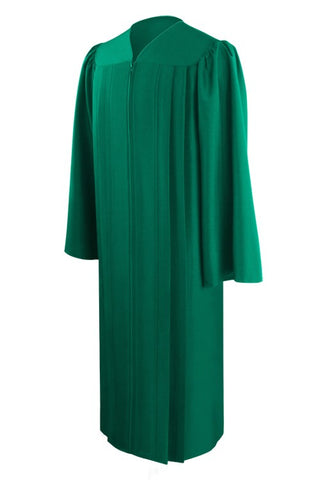 Eco-Friendly Green High School Graduation Gown - Graduation Cap and Gown
