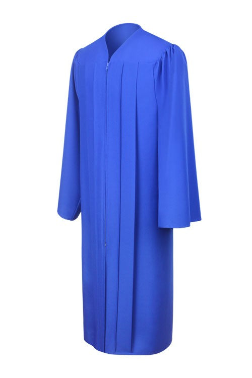 Matte Royal Blue High School Graduation Gown - Graduation Cap and Gown