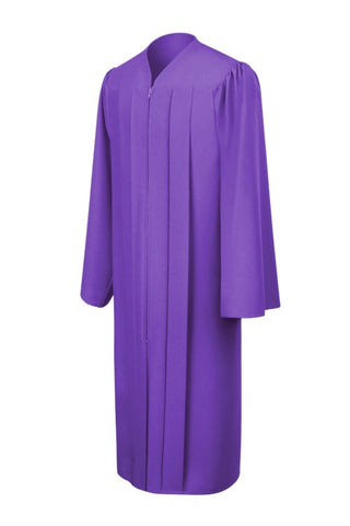 Matte Purple High School Graduation Gown - Graduation Cap and Gown