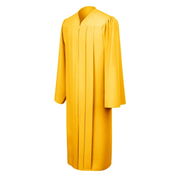 Matte Gold High School Graduation Gown - Graduation Cap and Gown