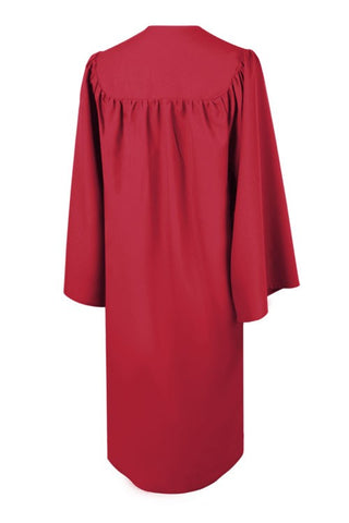 Matte Red High School Graduation Gown - Graduation Cap and Gown