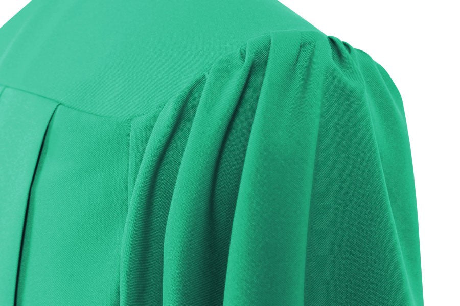 Matte Emerald Green High School Graduation Gown - Graduation Cap and Gown