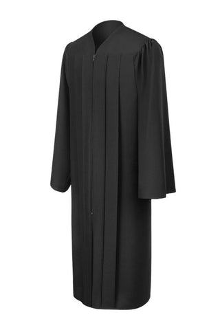 Matte Black High School Graduation Gown - Graduation Cap and Gown