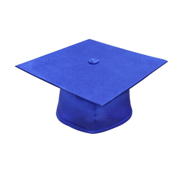 Matte Royal Blue High School Graduation Cap and Gown - Graduation Cap and Gown