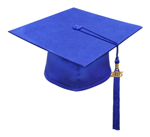 Matte Royal Blue High School Cap & Tassel - Graduation Caps - Graduation Cap and Gown