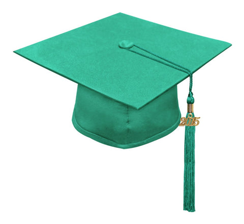 Matte Emerald Green High School Cap & Tassel - Graduation Caps - Graduation Cap and Gown