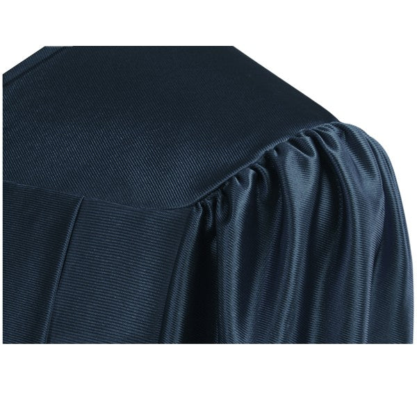 Shiny Navy Blue High School Graduation Gown - Graduation Cap and Gown