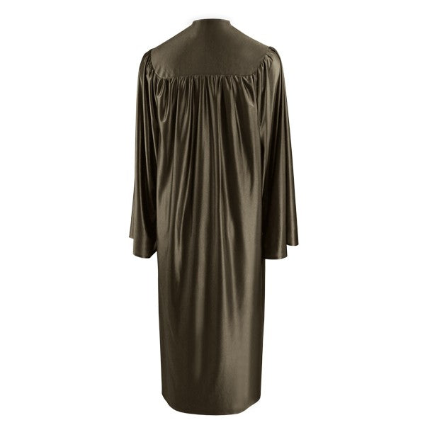 Shiny Brown High School Graduation Gown - Graduation Cap and Gown