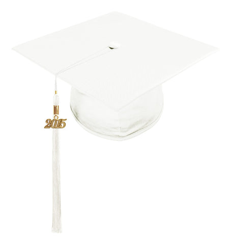 Child White Cap & Tassel - Preschool & Kindergarten Graduation - Graduation Cap and Gown